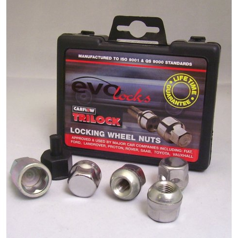Evo locking wheel nuts M12 x 1.5 for some Rover and Honda applications