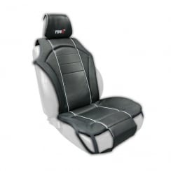 Touring single black padded universal cushion seat cover