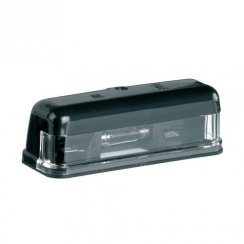 Universal 12v number plate light unit with bulb