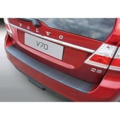 Volvo V70 Estate black ribbed rear bumper protector from June 2013 onwards (Not XC70)