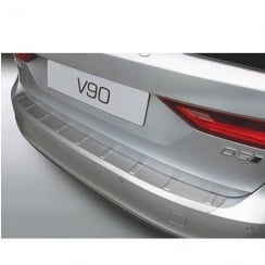 Volvo V90 black ribbed rear bumper protector from September 2016 onwards