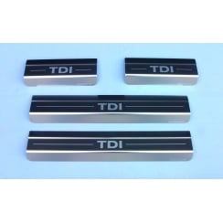 VW Touareg TDI stainless steel sill protectors Models from 2010 onwards