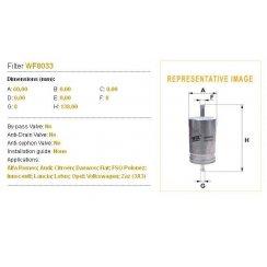 WF8033 Wix fuel filter for VW; Citroen; Audi; Alfa Romeo