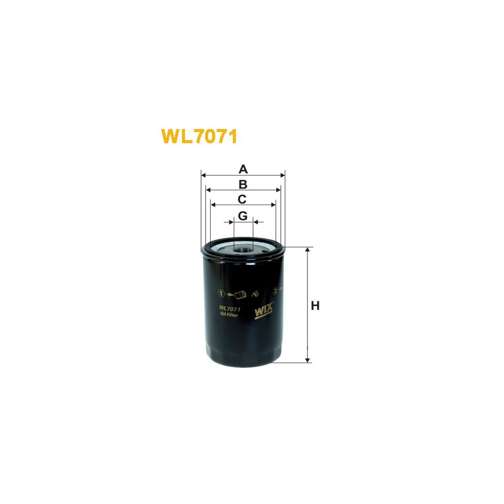 WL7071 Wix oil filter Audi A4 / A6 / A8 / VW Golf III
