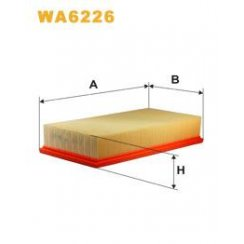 Wix WA6226 air filter - Ford Transit 2.0i / 2.5Di / Volvo