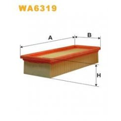 Wix WA6319 air filter - Rover (FRAM CA5358)