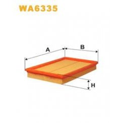 Wix WA6335 air filter - Ford Fiesta 95>