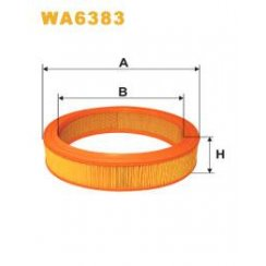 Wix WA6383 air filter - Audi 80; VW Golf; Passat; Skoda