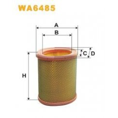 Wix WA6485 air filter - Citroen Saxo / Peugeot 106 / 306